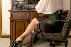 LadyJane im Büro